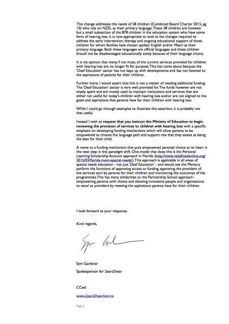 Letter to the Minister - March 2015 pg2